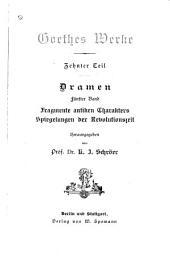 Goethes Werke: Band 91