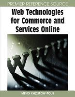 Web Technologies for Commerce and Services Online PDF