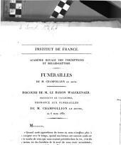 Funérailles de M. Champollion le Jeune. Discours de M. le Baron Walckenaer ...: le 6 mars 1832