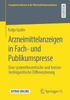 Arzneimittelanzeigen in Fach  und Publikumspresse PDF