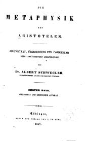 Die Metaphysik des Aristoteles: Bände 1-2