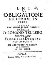 De obligatione filiorum in feudo