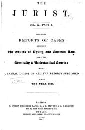 The Jurist: Volume 10, Part 1