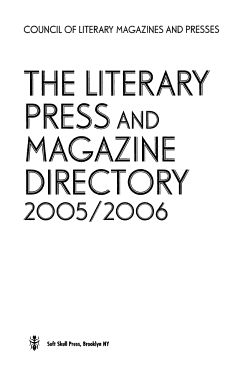 The Literary Press and Magazine Directory  2006 2007 PDF