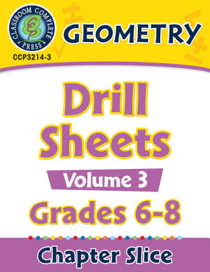 Geometry   Drill Sheets Vol  3 Gr  6 8