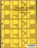 Year-round Schools; the 45-15 Plan
