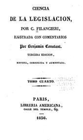 Ciencia de la legislacion: Volumen 4