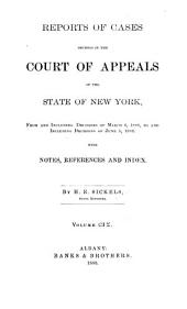 Reports of Cases Decided in the Court of Appeals of the State of New York: Volume 109