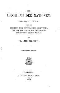 Der Ursprung der Nationen PDF