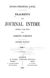 Fragments d'un journal intime: précédés d'une étude