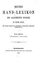 Meyers Hand Lexikon Des Allgemeinen Wissens in Einem Band PDF