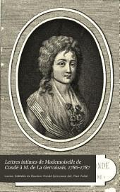 Lettres intimes de Mademoiselle de Condé à M. de La Gervaisais, 1786-1787