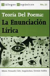 Teoría del poema: la enunciación lírica