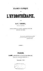Examen clinique de l'hydrothérapie