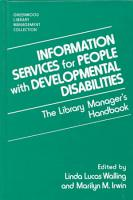 Information Services for People with Developmental Disabilities PDF