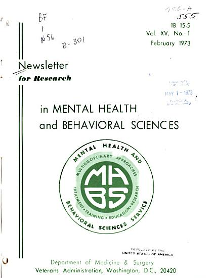 Newsletter for Research in Mental Health and Behavioral Sciences PDF