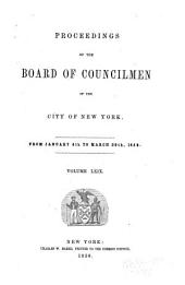 Proceedings of the Board of Councilmen of the City of New York: Volume 69