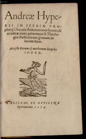 In Jesaiae oracula annotationes breves et eruditae