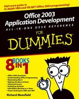 Office 2003 Application Development All in One Desk Reference For Dummies PDF