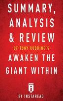 Summary, Analysis & Review of Tony Robbins's Awaken the Giant Within by Instarea