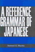 A Reference Grammar of Japanese PDF