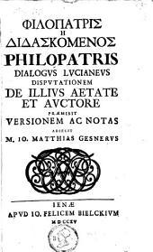 Philopatris dialogus Lucianeus