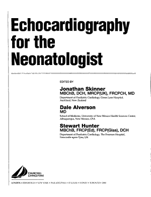 Echocardiography for the Neonatologist