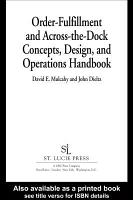 Order Fulfillment and Across the Dock Concepts  Design  and Operations Handbook PDF