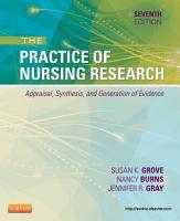 The Practice of Nursing Research   E Book PDF