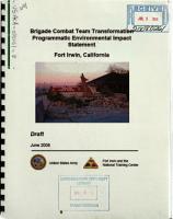 Fort Irwin  Brigade Combat Team Transformation PDF