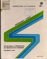 Taller Para la Preparacion de Proyectos de Inversion PDF