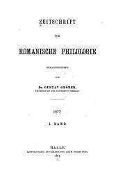 Zeitschrift Für Romanische Philologie: Bände 1-2
