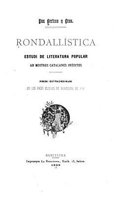 Rondall  stica  estudi de literatura popular PDF