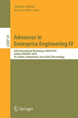 Advances in Enterprise Engineering IV PDF