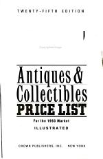 Kovels' Antiques and Collectibles Price List 1993