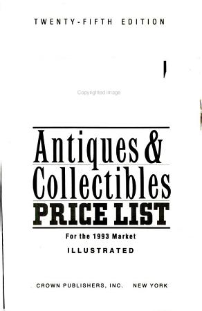 Kovels  Antiques and Collectibles Price List 1993 PDF