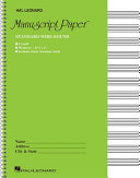 Standard Wirebound Manuscript Paper  Green Cover