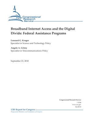 Broadband Internet Access and the Digital Divide