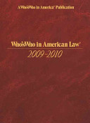 Who's Who in American Law 2009-2010