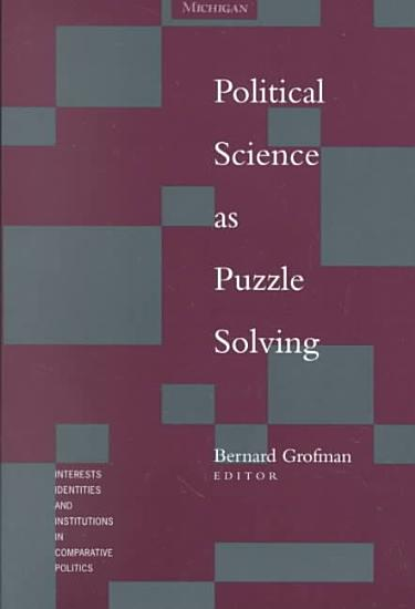 Political Science as Puzzle Solving PDF