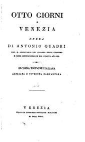 Otto giorni a Venezia: Oggetti principali da vedersi nella città di Venezia e nelle isole adjacenti. 1824