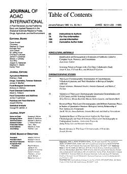 Journal of AOAC International PDF