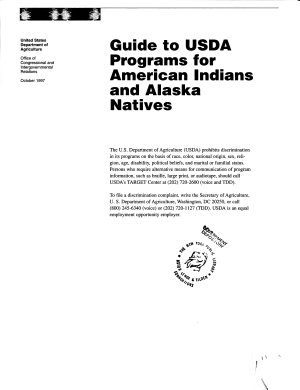 Guide to USDA Programs for American Indians and Alaska Natives PDF