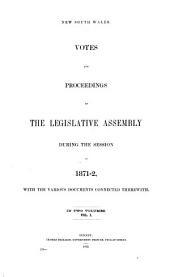 Votes & Proceedings: Volume 1
