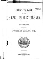 Finding List of the Chicago Public Library: Bohemian Literature