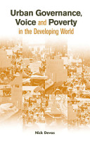 Urban Governance Voice and Poverty in the Developing World PDF
