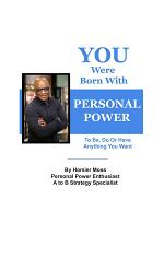 You Were Born With Personal Power