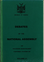 Debates of the National Assembly