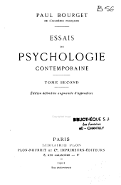 Essais de psychologie contemporaine: Volume 2
