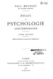 Essais de psychologie contemporaine: Volume2